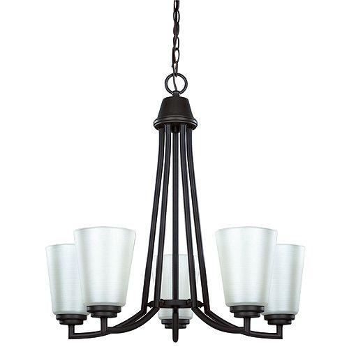 5 light chandelier rona
