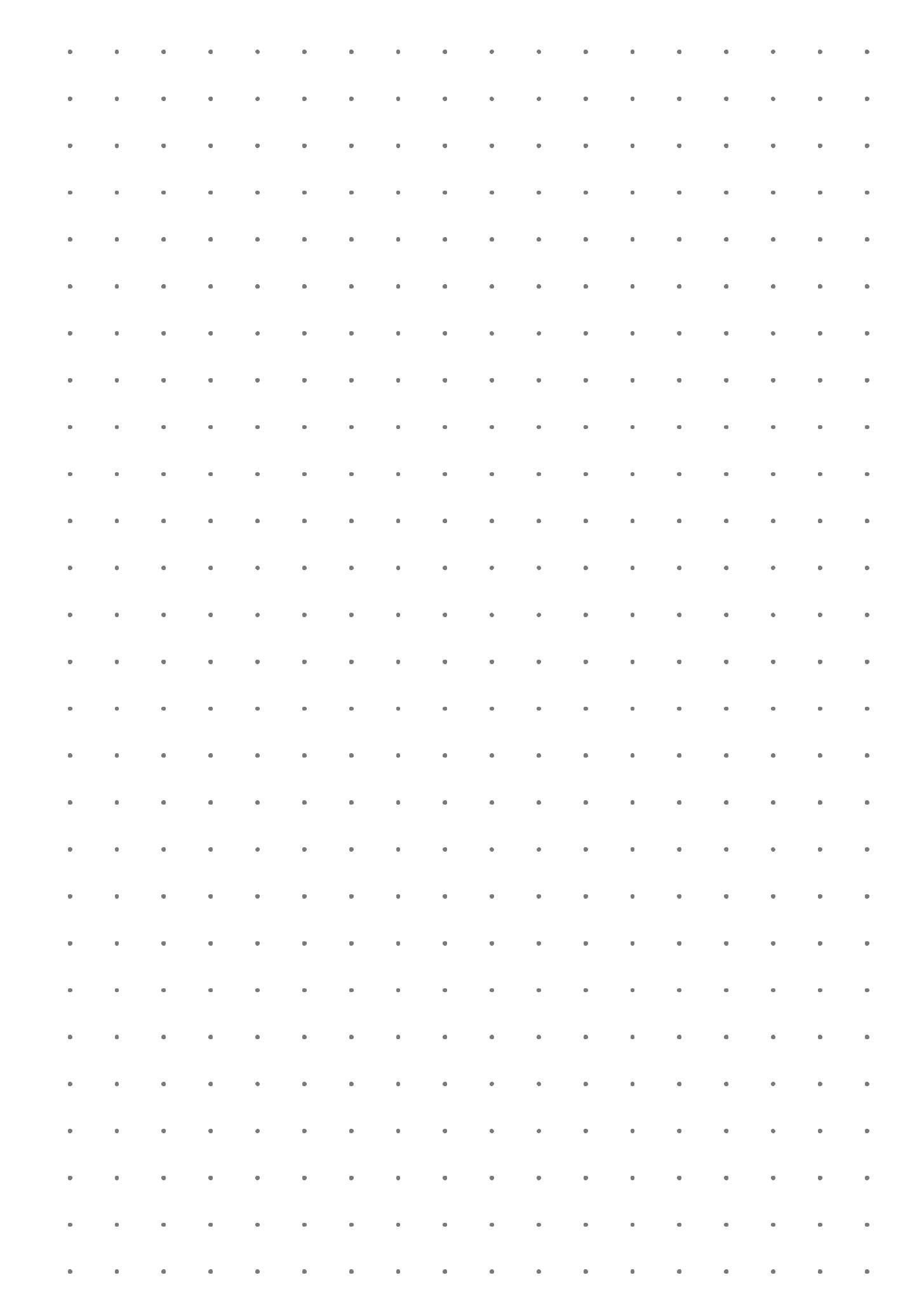 Dot Grid Paper With 7 5 Mm Spacing