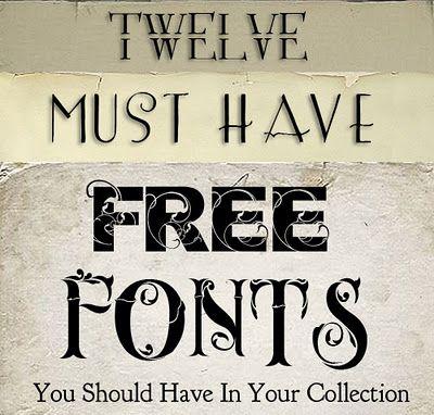 Fonts, fonts, fonts