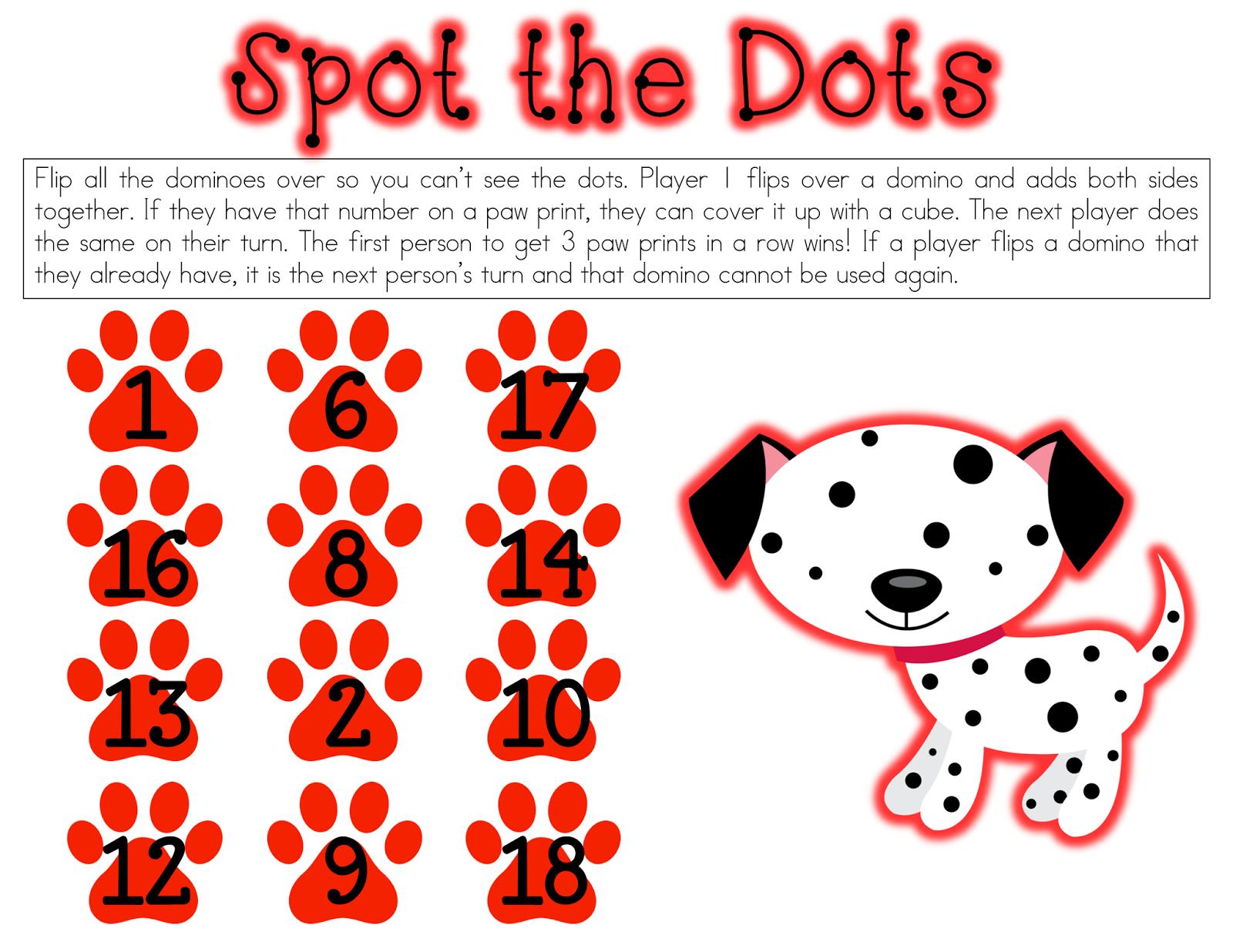 Ow Cute Dog Domino Math Game