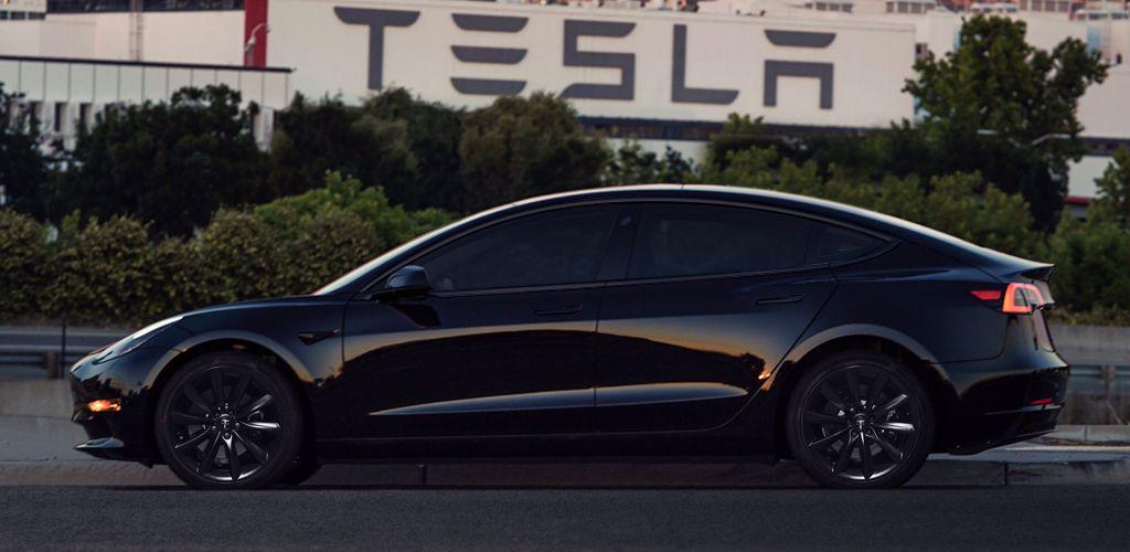 Tesla Model 3 With 19 Inch Matte Black Tst Wheels By T Sportline Tesla Tesla Model Fancy Cars