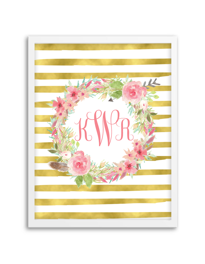 Monograms | Floral wreath, Monograms and Wreaths