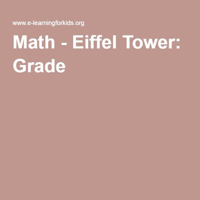Math - Eiffel Tower: Grade 5