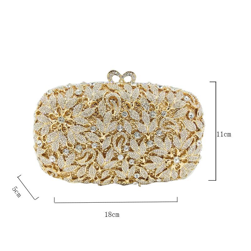 Pin by Crystal Clutch on Flower-shaped Crystal Clutch Bag ... 815e933e0f07