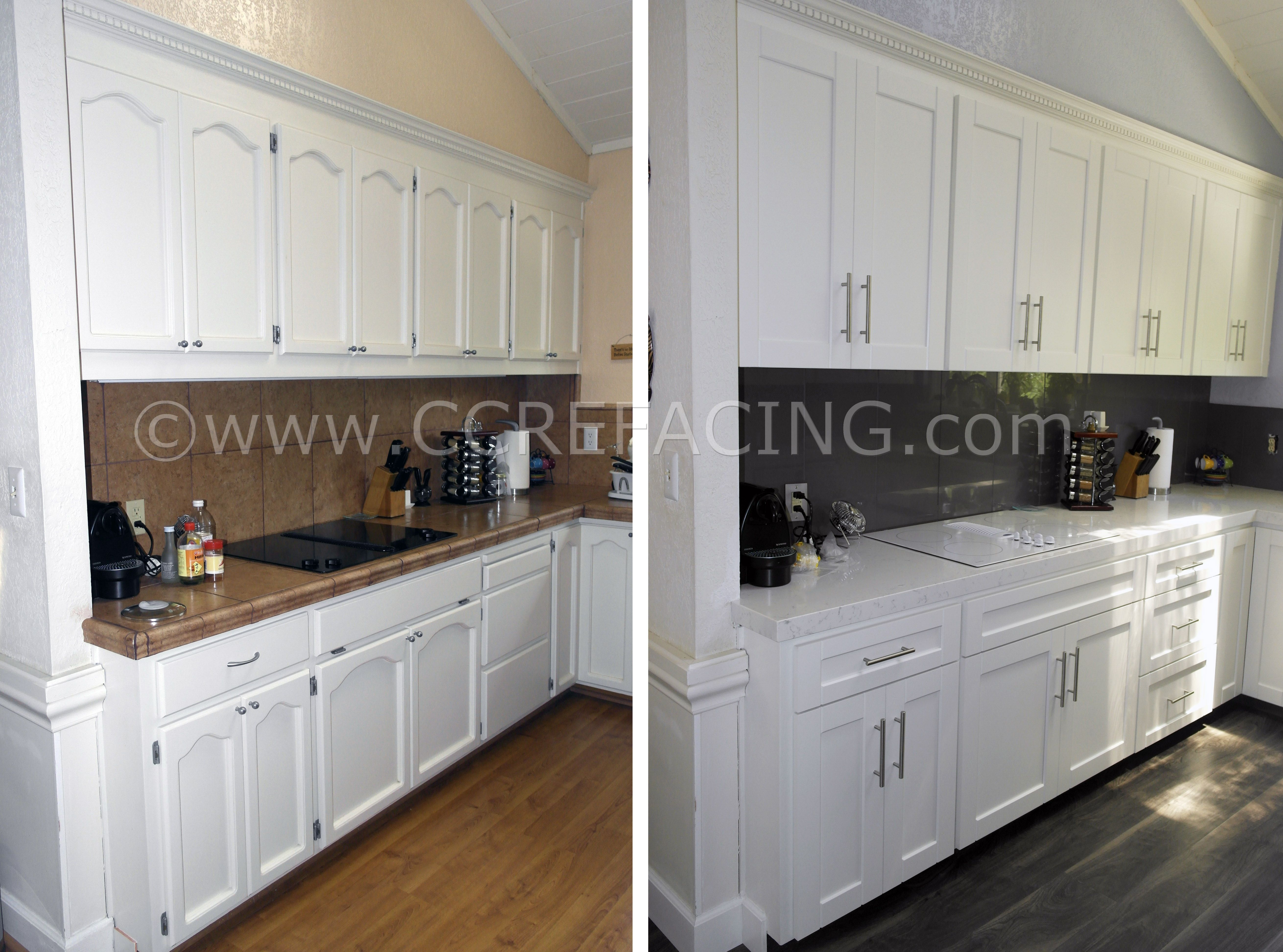 San Leandro Reface Refacing With White Shaker Cabinet Doors White Shaker Cabinets Cabinet Refacing Cabinet