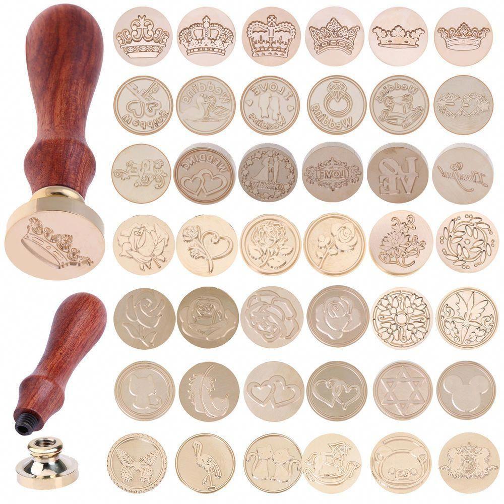Vintage Envelope Wedding Invitations Greetings Brass Seal Wax Stamp Wood Handle Unbranded Wax Seal Stamp Kit Wax Stamp Wax Seal Stamp Custom