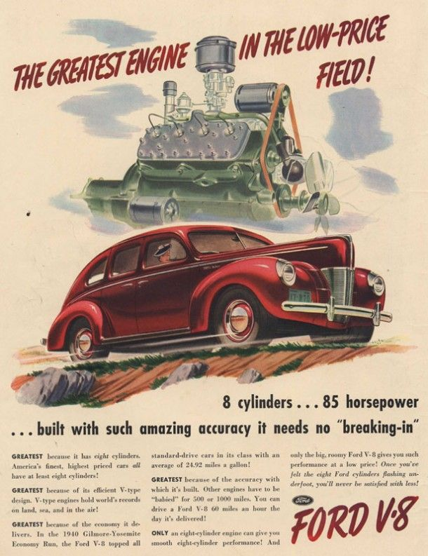 Ford Magazine Ads From 1940s Automobile Advertising Commercial Vehicle Vintage Cars