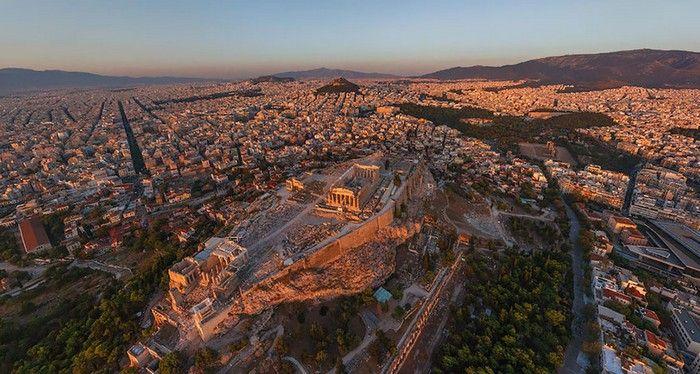 Bird View Birds Eye View City Places Around The World Athens