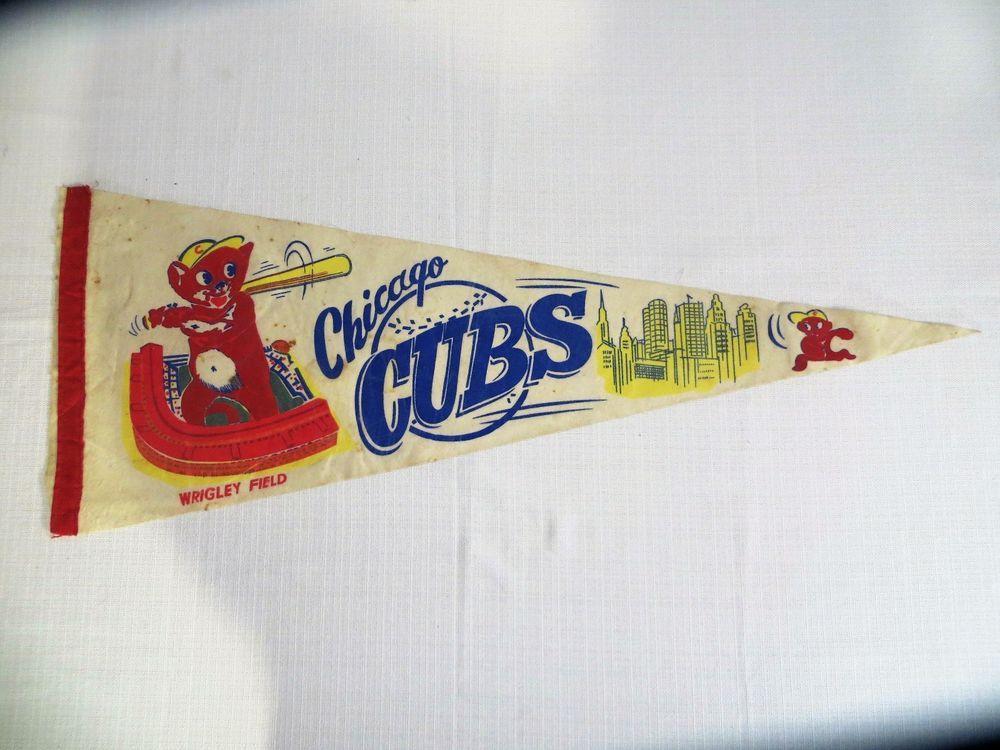 MLB Chicago Cubs Vintage 1960\'s Wrigley Field Batter Logo Baseball ...