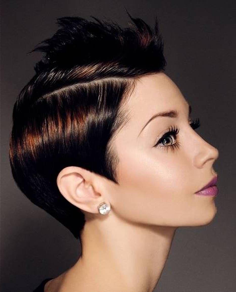 Sleek Black Trendy Short Spikey Hairstyles For Women Natural Hair Hairstyles And Ideas Amazing Sleek Black Tren In 2020 Long Sleek Hair Sleek Hairstyles Hair Styles