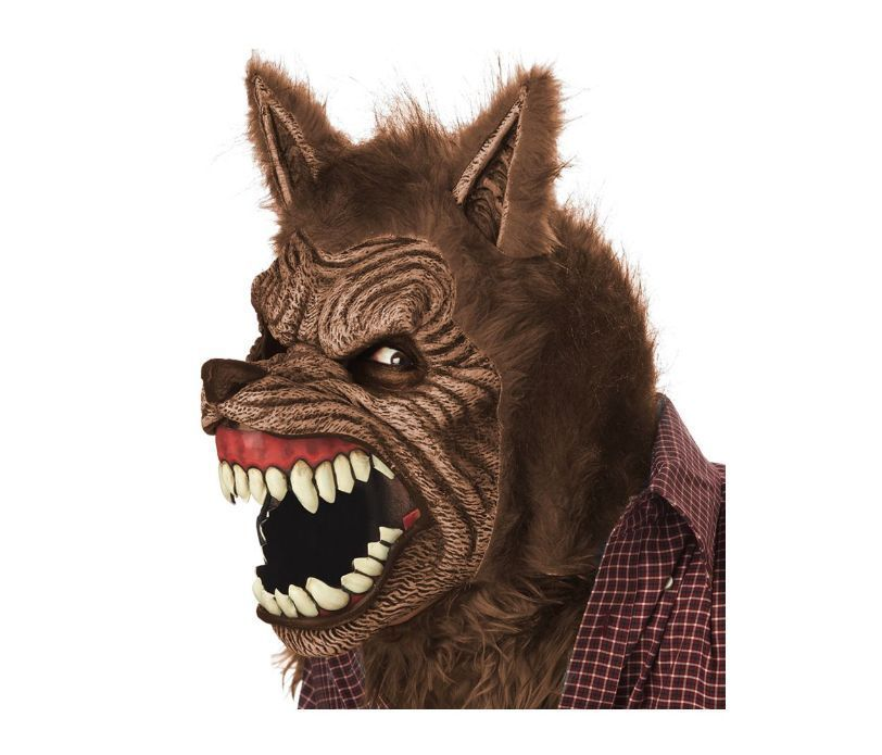 animated werewolf mask costume big bad wolf halloween dog cosplay fur prop head - Wolf Halloween