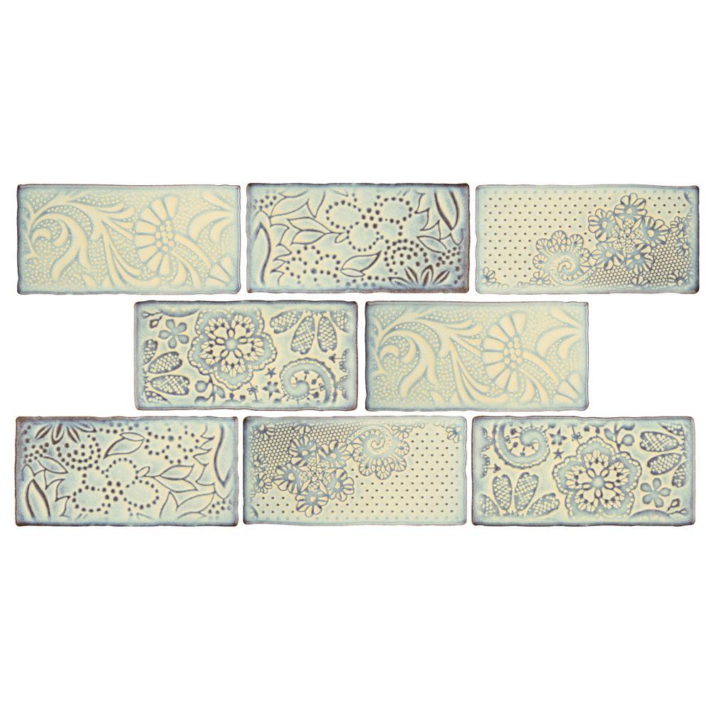 Merola Tile Antic Feelings Pergamon 3 In X 6 In Ceramic Subway Wall Tile 1 Sq Ft Pack Pergamon Medium Sheen Ceramic Wall Tiles Wall Tiles Ceramic Subway Tile