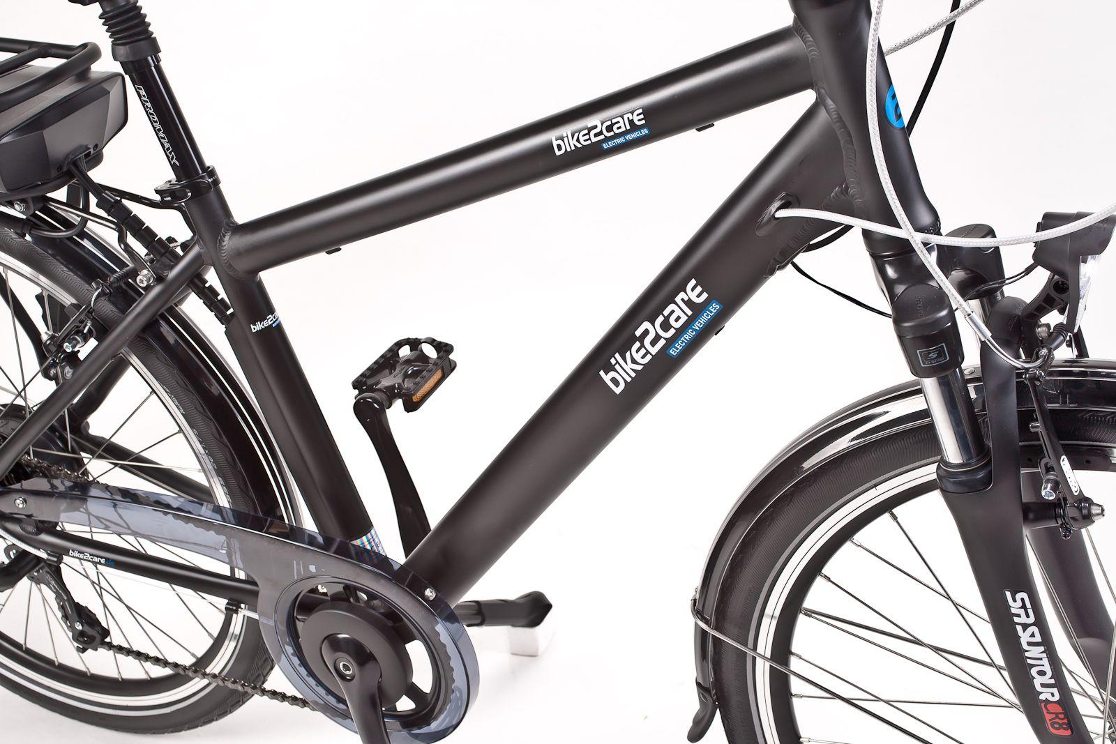 Der Trapezrahmen des M6-PRIME E-Bike von bike2care | Das M6-PRIME E ...