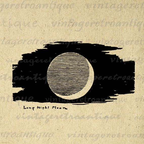 Printable Image Long Night Moon Graphic Crescent Moon Digital Illustration Download Artwork Vintage Clip Art. High quality, high resolution digital image from vintage artwork for iron on transfers, printing, tote bags, papercrafts, t-shirts, and many other uses. Personal or commercial use. This digital image is high quality, high resolution at 8½ x 11 inches. A Transparent background png version is included.