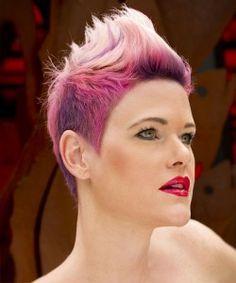 Farbige Frisuren Kurzhaarfrisuren Frauen Hair Styling