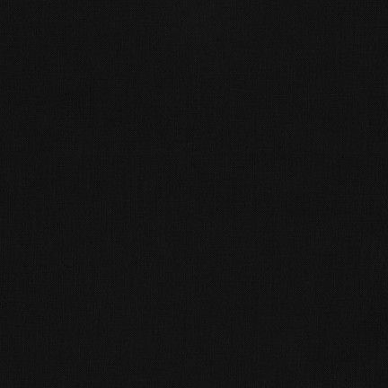 kona solid Black plain cotton fabric