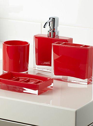 Les accessoires minimalistes rouges | Simons | SDB / CHAMBRE ...