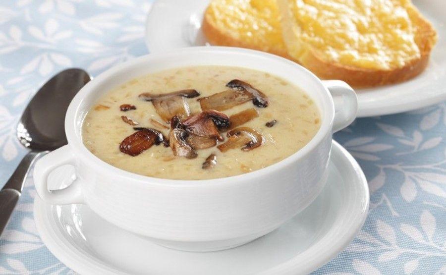 Грибной суп из шампиньонов с плавленным сыром с фото пюре