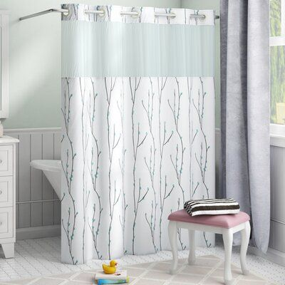 Red Barrel Studio Fiore Cherry Bloom Single Shower Curtain