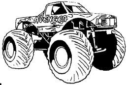 Monster Trucks Kids Coloring Pages And Free Colouring Pictures To