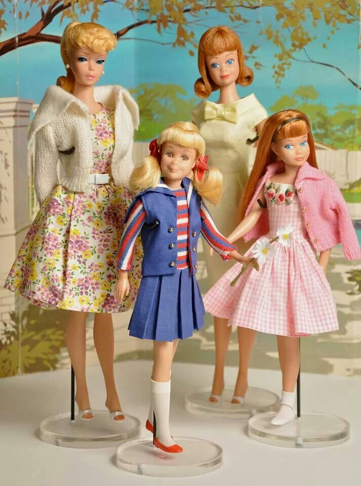 Spring fashions for Barbie, Midge, Skipper and Skooter ...