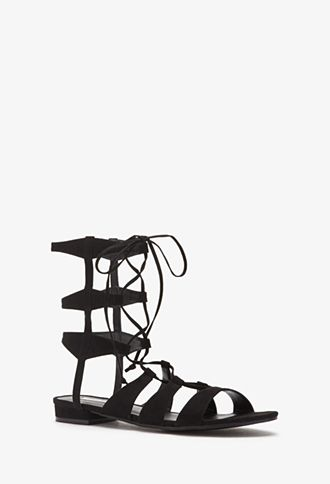 Faux Suede Gladiator Sandals  1c819b4de4b1