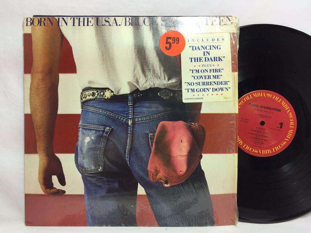 Bruce Springsteen Born In The Usa Lp Vinyl Record In Shrink Hype Sticker Bruce Springsteen Lp Vinyl Vinyl Records