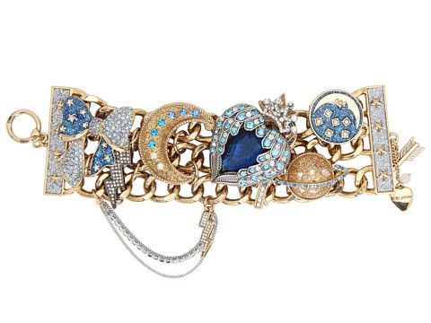Betsey Johnson Heaven's To Betsey Heart Charm Wide Toggle Bracelet at Zappos.com