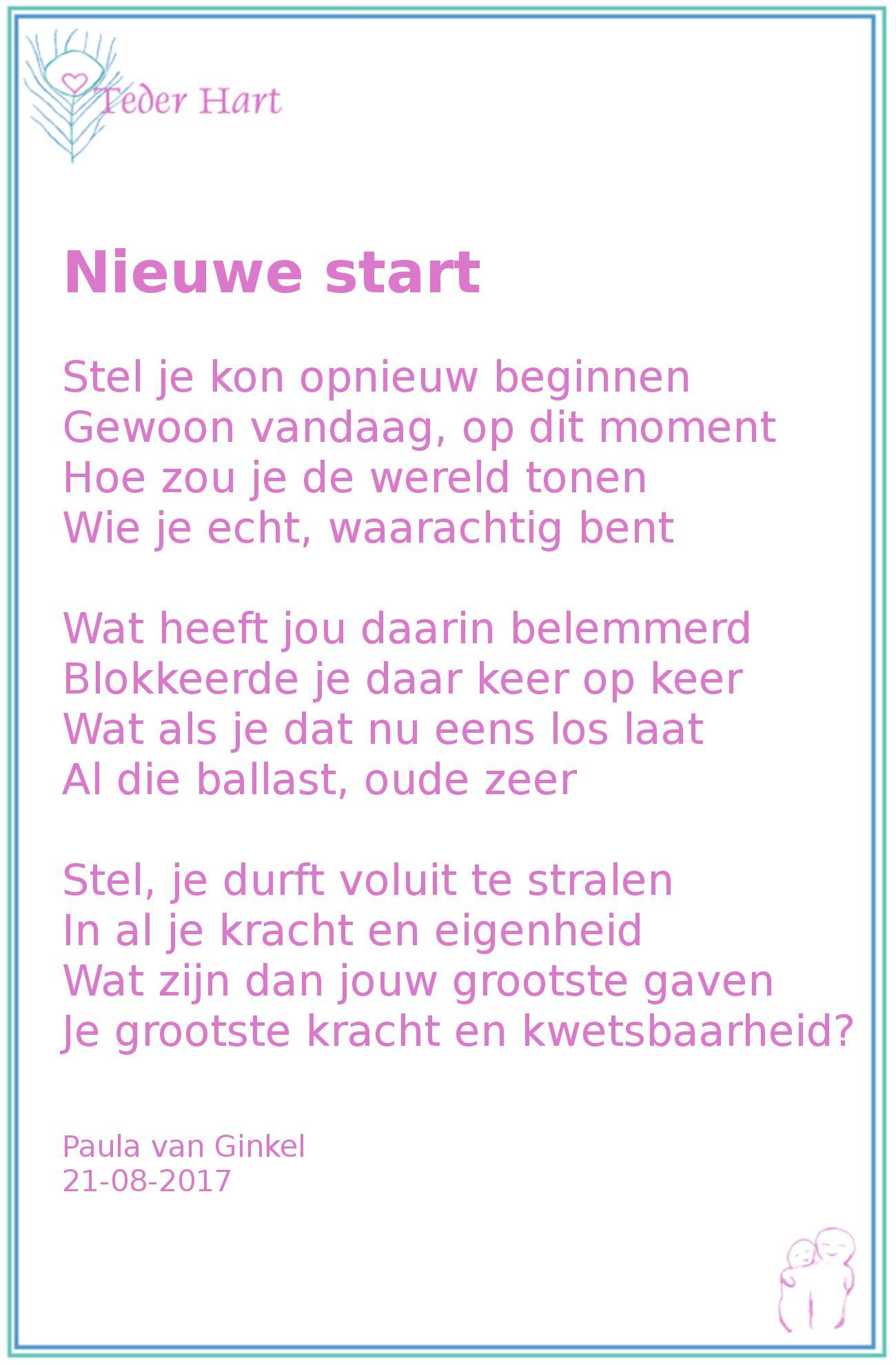 nieuwe start pinterest nieuwe start gedichten en gedicht