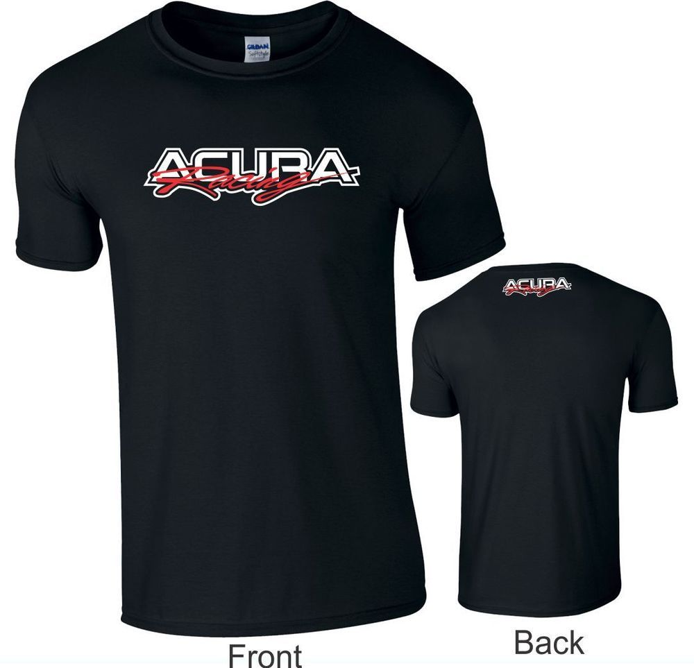 Acura Racing Logo T-SHIRT SHORT SLEEVE COTTON LOGOS ON