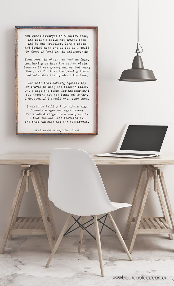 Inspirational minimalist poem art for your living room or bedroom