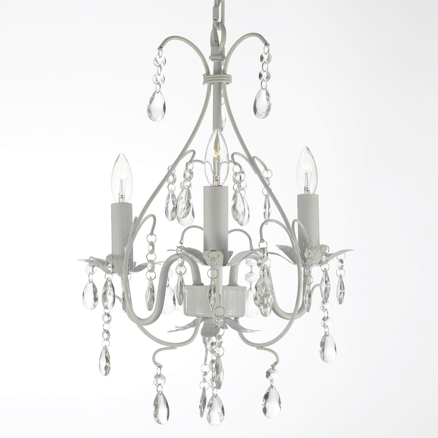 Add dazzling sparkle to any room with this sophisticated crystal add dazzling sparkle to any room with this sophisticated crystal mini chandelier it features 100 aloadofball Image collections