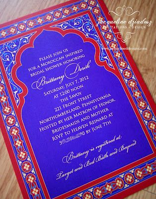 Moroccan Invitation Bridal Shower Designs Pinterest Moroccan