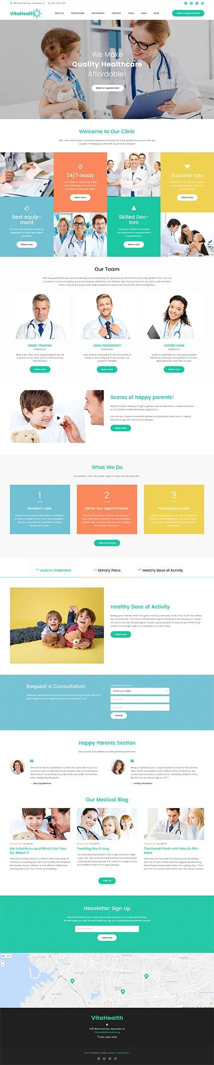 Health Clinic #Wordpress #template. #themes #business #responsive ...