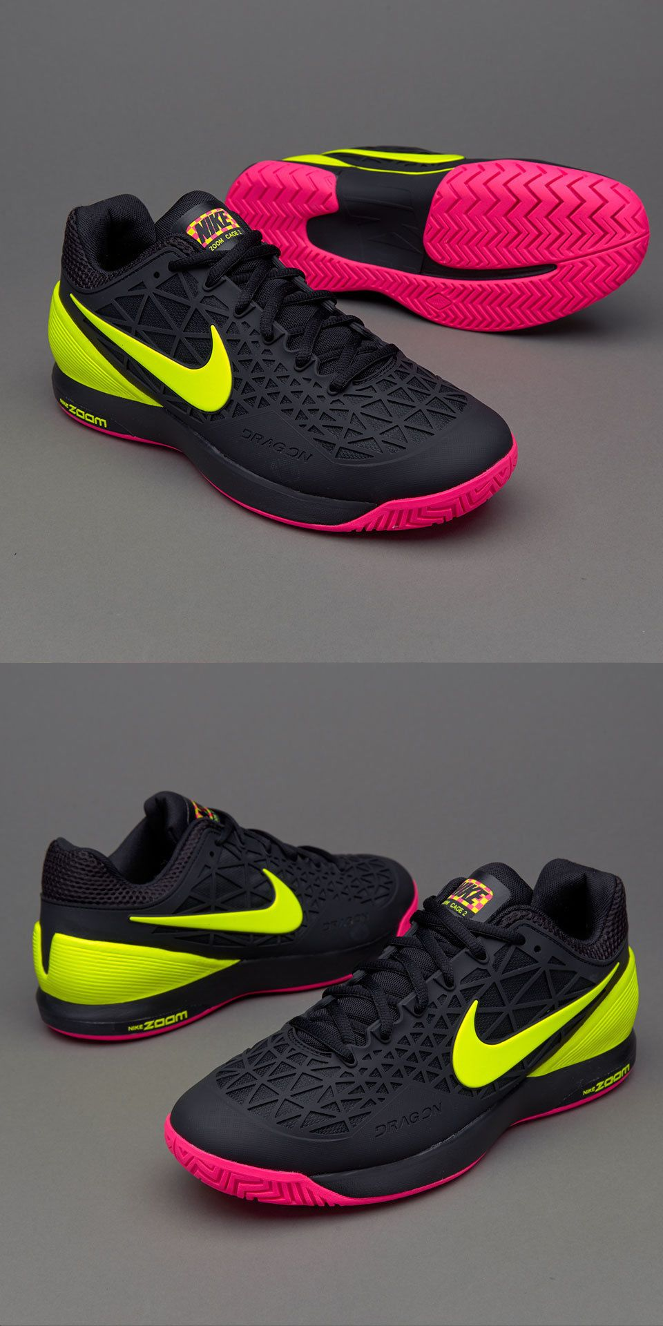 outlet store b08a4 7d047 Shoes 62230  Nike Zoom Cage 2 Tennis Shoes Federer Black Volt Brand New  (705247