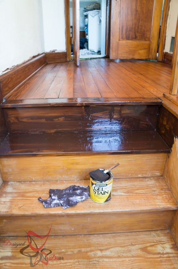 Using Gel Stain Over Existing Stained Wood Minwax Gel