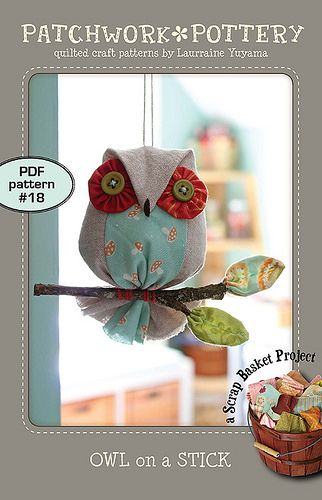 Owl on  stick pdf pattern fabric scraps softies quilt patterns also the best xmas images pinterest in christmas crafts rh