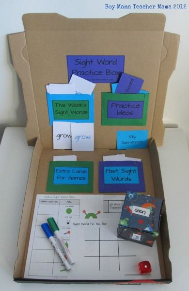 Sight Word box - great for ABC center!