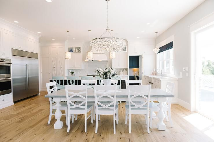 brand new bd26b bf4ed Beautiful eat-in kitchen features a Robert Abbey Bling ...