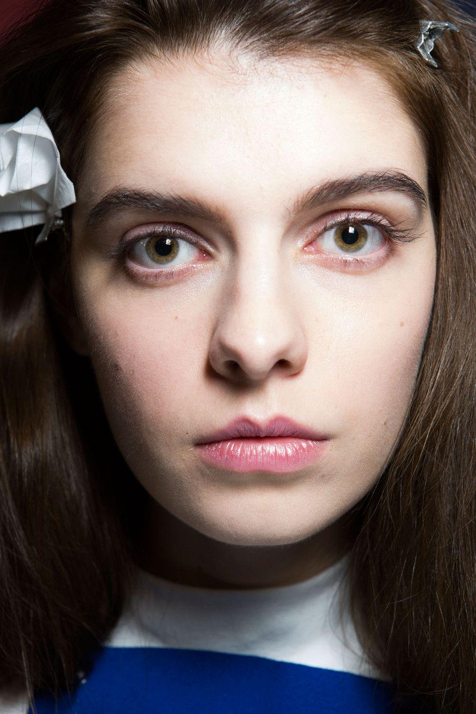 Jacquemus at Paris Fall 2014. http://votetrends.com/polls/369/share #makeup #beauty #runway #backstage