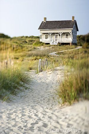 Cottage on beach, one of my very own, to retreat to at will, filled with my favorite things and I want it right on the beach, overlooking the Atlantic.