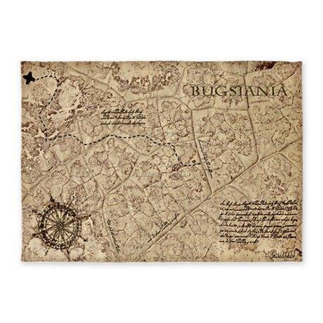 Old Pirate Treasure Map Rug