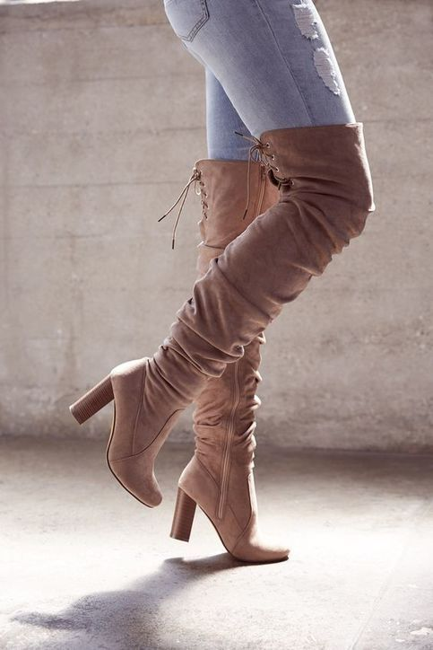 Unique Ruched Over-The-Knee Boots Cheap hot H5710