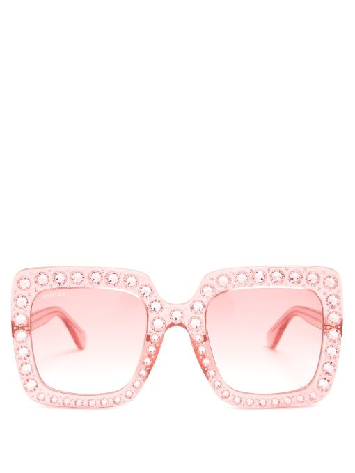 oversized frame sunglasses - Pink & Purple Gucci GRG1t0NNw9