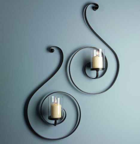 Imax Forte Sconces Set Of 2 Iron Wall Sconces Decor Candle