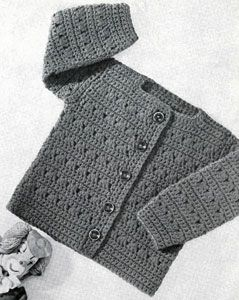 fc8917fd863fcd Girls Crocheted Cardigan By Lacey's Speed Knits For Tiny Tots - Free Crochet  Pattern - (freevintagecrochet)