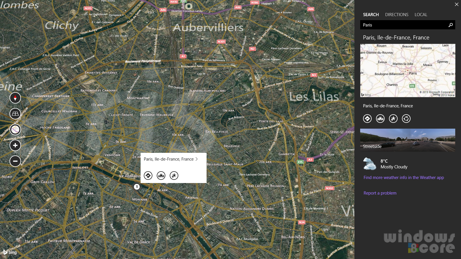 Download Bing Maps app preview with 3D maps and street