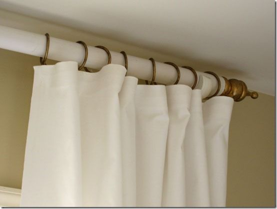 How To Make A Curtain Rod And Finials With A Tennis Ball