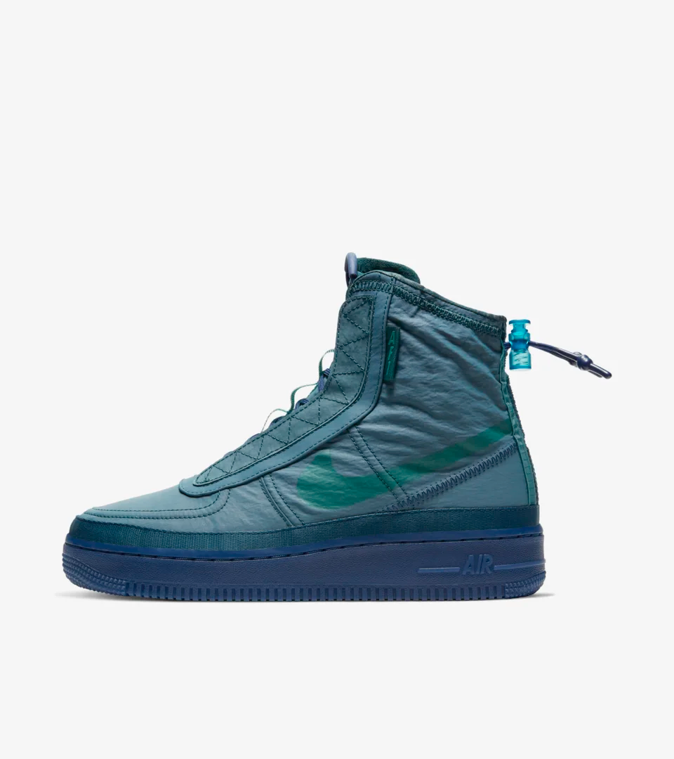 Women's Air Force 1 Shell 'Midnight Turquoise' Release Date | Nike ...