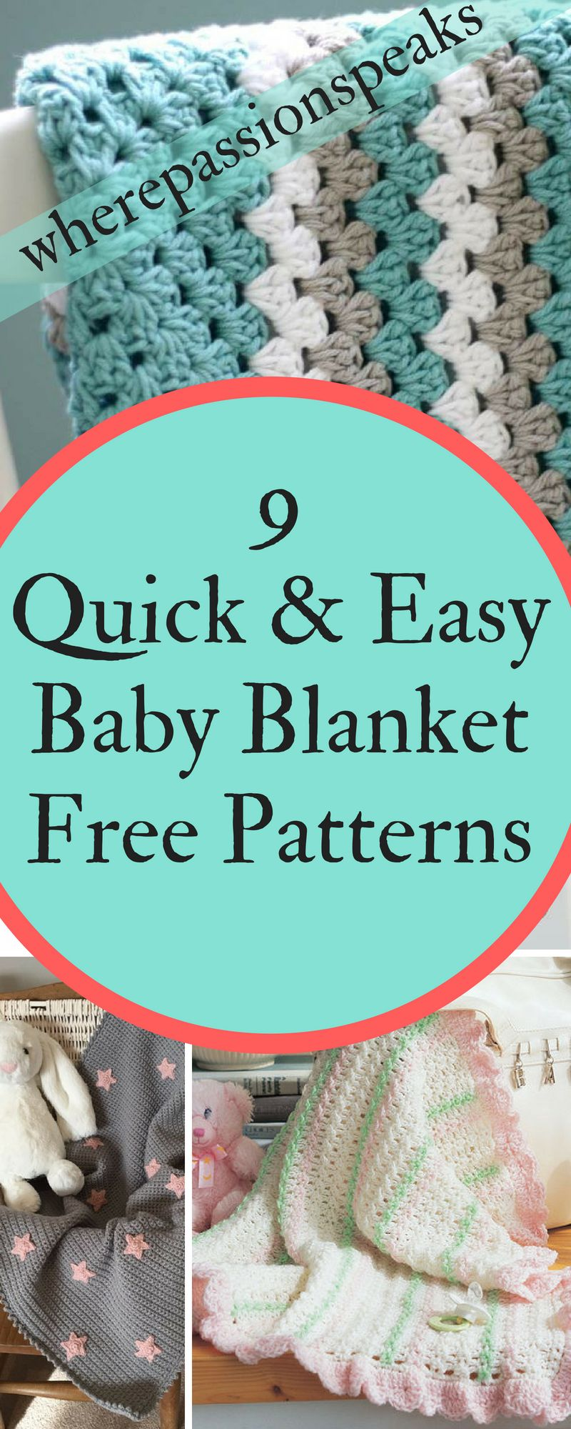 Collection of 9 awesome baby blankets that are super easy to crochet ...